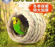 Handmade Pigeon Breeding Nest Bird Natural Straw Weave Budgie Canary Box
