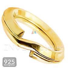 925 Argento Sterling Placcato In Oro Anelli di Salto DOPPIO SPLIT 5 6 mm gioielli