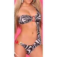 Sexy Monokini Beachwear Zebra-Optik Black/White #BI386