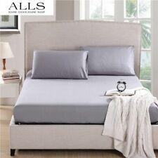 Premium Bedding Duvet Set + Sheet Set Silver Solid All Sizes 300 TC Egypt Cotton