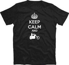 Keep Calm and ride Chopper bike Biker t-shirt S-XXXL