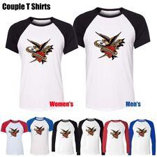 SAILOR JERRY VINTAGE RETRO Eagle Dagger Couples T-Shirt Mens Womens Graphic Tee