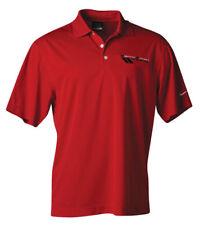 Grand Sport Corvette Emblem Performance Polo Shirt Red