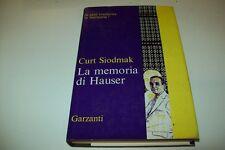 CURT SIODMAK-LA MEMORIA DI HAUSER-GARZANTI-ROMANZI '70-1° EDIZIONE 1970