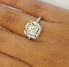 3.25 CT Princess Cut Diamond Engagement Wedding Ring 14k Solid White Gold