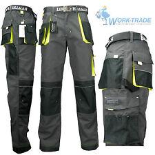 Arbeitshose Bundhose Arbeitskleidung Schutzkleidung Grau Schwarz Gelb Gr. 46-62