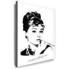 Bild auf Leinwan Audrey Hepburn Foto Druck Gemälde, Bilder Kunstdrucke Deko Art
