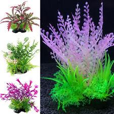Artificial Water Plant Plastic Grass Fish Tank Aquarium Decor Accessories Green