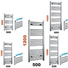500mm wide Chrome Straight Heated Towel Rail Warmer Bathroom Radiator All Sizes