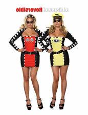 Ladies Dreamgirl 2in1 Reversible Racer / Taxi  Driver Fancy Dress - UK 16 - 24