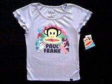 Paul Frank Toddler Little Girls 2T Short Sleeve Violet Heather Graphic Top