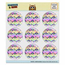 Cute Kawaii Rainbow Unicorn Pattern Puffy Bubble Scrapbooking Sticker Set
