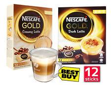 NESCAFE GOLD Dark Creamy Latte Nestle Instant 12 sticks in Box MADE IN MALAYSIA
