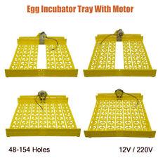48-154 Chicken Egg Turner For Duck Quail Bird Poultry Incubator Tray 220V/12V