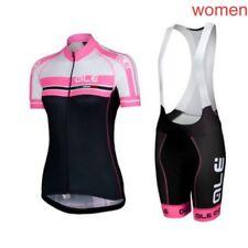 2018 Summer Women Style Cycling Short Sleeve Jersey Mtb Bike Bib Shorts Set EE92