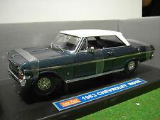 CHEVROLET NOVA 1963 bleu nuit et toit blanc 1/18 SUNSTAR 3963 voiture miniature