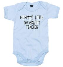 Insegnante di geografia Tuta Personalizzata Mummy's Little BABY GROW Regalo Neonato