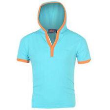Boys T-Shirt Age 7-13 Yrs Lee Cooper Hoody Short Sleeve Top Next Day Post Bnwt