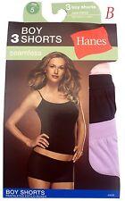 Hanes®  Women's Panties BOY SHORTS 3-Packs 49SB Seamless NWT S; XL; XXL