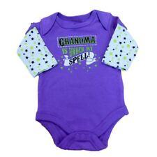 F Glory Infant Girl Purple Grandma Under My Spell Creeper Halloween Shirt