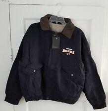 Chicago Bears NFL Dunbrooke Leather-Like Collar Navigator Jacket, LARGE or 3XL