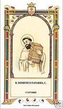 SANTINO HOLY CARD BEATO DOMENICO NAVARRO MERCEDARIO
