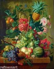 Paulus Theodorus van Brussel  Fruit and Flowers Giclee Canvas Print