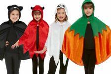 Halloween Cape Kids Pumpkin Ghost Devil Cat Fancy Dress Outfit Accessory