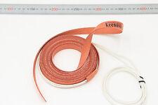 15mm x 5000mm 500W KEENOVO Silicone Heater Strip Pipe Tube Heating Band Belt