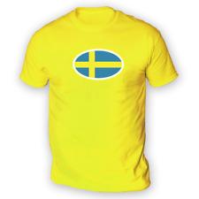 SUÉDOIS Drapeau T-shirt homme-x13 Couleurs-Cadeau Football Coupe de Suède de Hockey