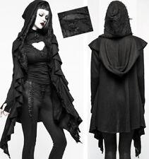 Gilet veste gothique lolita baroque destroy volants double capuche mitaine hiver