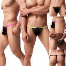 Men's Sexy Mesh Strip Thongs Underwear Stretch G-strings T-back Underpants M-XL