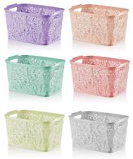 Medium Small Plastic Lace Storage Baskets Bo Unit Bedroom Bathroom Kitchen