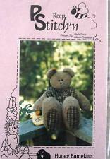 """Keep Stitch'n Teddy Bear pattern 18"""" plush toy cuddler"""