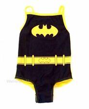Girls DC BATMAN swimming costume,character swimsuit, swimwear 2 - 6yrs FREE P&P