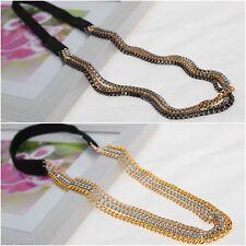 3 Farben Haarband Haarkette Haarschmuck Stirnband Fashion