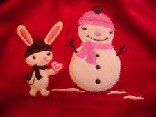 NWT Gymboree Alpine Sweetie Snowman swing top velr 3t 3