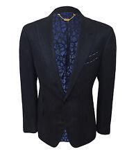 Billionaire Couture Men's Dark Blue Silk Jacket Regular fit, 48A,50A,52A,54A,56A