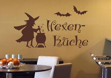 Hexenküche - Hexe Küche Aufkleber Essen Esszimmer Deko Wandaufkleber WandTattoo