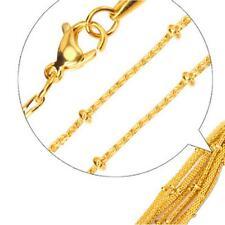CADENA BISMARCK 2mm 999 bañado en oro 24 Quilates Mujer Oro Amarillo k2881