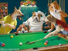 Jack el Destripador piscina perros Arthur Sarnoff Sport lona de sala de juegos impresión de arte cartel