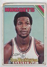 1975-76 Topps #267 Donald Washington Denver Nuggets RC Rookie Basketball Card