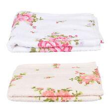 Rose Floral Printed 100% Cotton Face, Hand, Bath Towel, Bath Sheet White, Cream