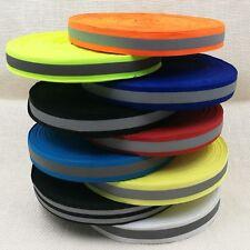 20 mm Reflexband, Reflektorband, Reflexborte, Reflexstreifen, in 8 Farben