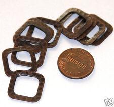 10 pcs of Antiqued Copper Hammered Square Link 17mm