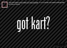 (2) Got Kart Sticker Decal karting motorsports