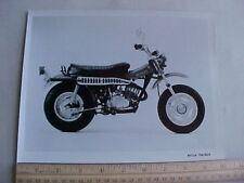 Factory Suzuki RV125 RV125K 1973 Dealer Factory Photo Foto Black & White Glossy
