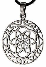 Mandala Lebensblume 925 Silber Anhänger Blume des Lebens Silberkette Nr. 204