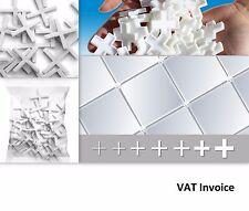 Piastrella di mosaico Bianco Distanziatori Croci 6 Taglie: 1.5 2 2.5 3 4 o 5 mm