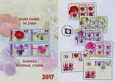 Rumänien 2017 Blumen,Flowers,Fiori,Flores,Fleurs Mi.7188-91,Zf.,KB-Satz,FDC